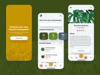 Simple Plant App Interface plants plant mobile app design mobile design mobile app mobile ui mobile concept ux ui simple flat