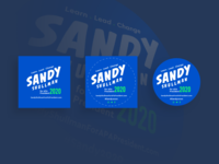 Sandy for APA President 2020 Buttons and Pins
