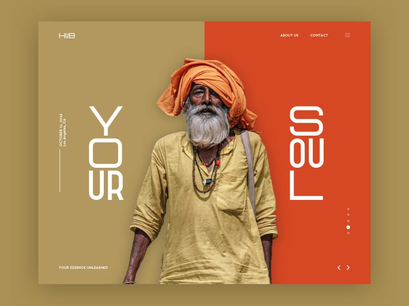 HUB Landing Page Concept web fashion travel design ux typography flat branding fun concept ui