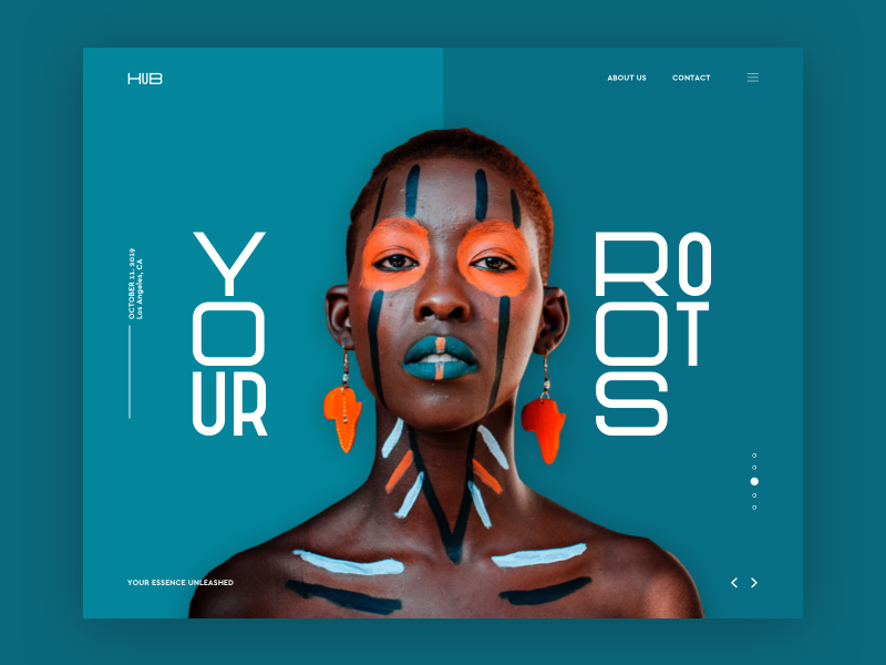 HUB Landing Page Concept logo flat web ux fashion travel simple typography branding design fun concept ui