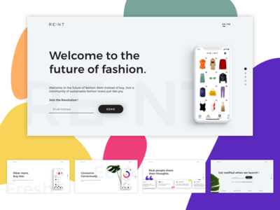 RE-NT Landing Page Concept