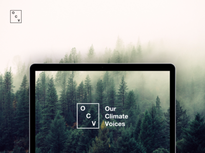 Our Climate Voices Logo in use
