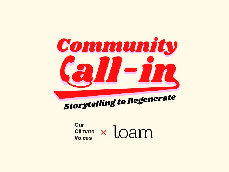 OCV x Loam Storytelling to Regenerate 3rd Concept v1 illustration branding typography simple concept flat logo