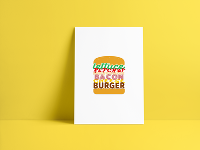 Typography Burger Poster