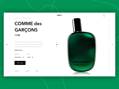 CDG Product Page Concept