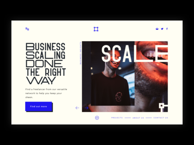Business Scaling Landing Page Concept