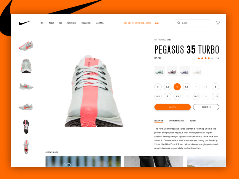 Nike Pegasus 35 Turbo Product Page