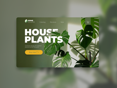 UX\UI | Website for an online home flowers store website webdesign design