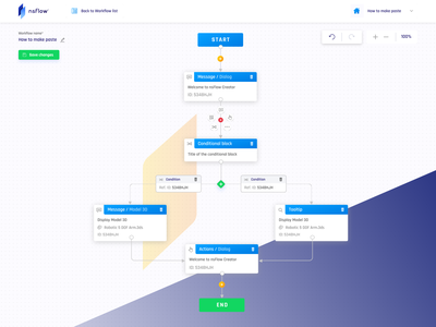 nsFlow Workflow Creator remote training workflow web application web vr virtual reality reports design dashboard app dashboad augmented reality application app design app