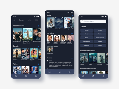 Movie and TV Show App application app design moblieapp ux ui tv show netflix hbo series tv app mobile ui disney tv series design app movie app mobile app design mobile app