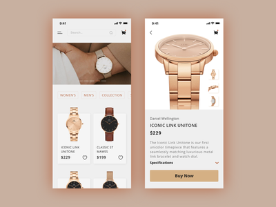Watch Store Mobile App clean ui online shopping online store online shop ui design uiux ux shopping app shopping shop e-commerce shop e-commerce app e-comerce app mobile app mobile app design ui mobile ui watches watch