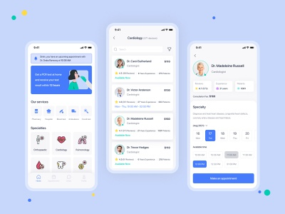 Medical Mobile App ux pharmacy consultant covid 19 health app healthcare ui mobile app medicine app patient app doctor app covid hospital medical app medical health patient medicine doctor appointment doctor
