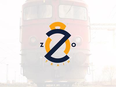 ZO train monogram graphic design logodesign logotype branding logo