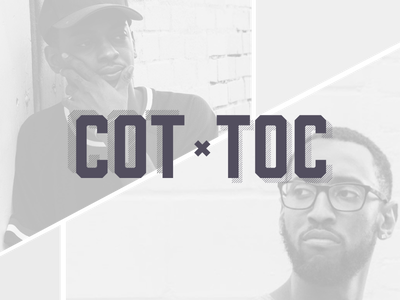 COT ✕ TOC music hiphop rap typography logo brand identity