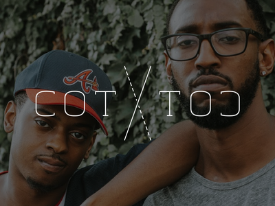 COT ☓ TOC music hiphop rap typography logo brand identity