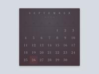 #DailyUI 038 - Calendar