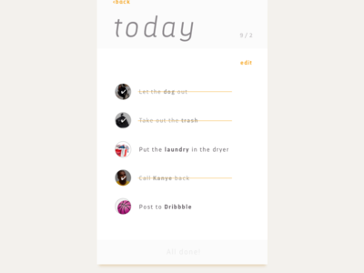 #DailyUI 042 - To-do list