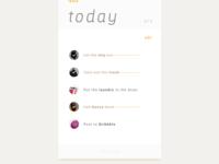 #DailyUI 042 - To-do list