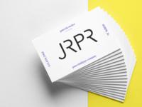 JRPR - Public relations company logo & business card