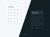 DailyUI - 004 - Calculator