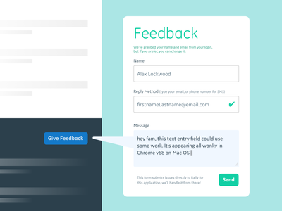 DailyUI - 028 - Contact Us active state validation collaboration contact form contact feedback dailyui ui  ux ux system feedback
