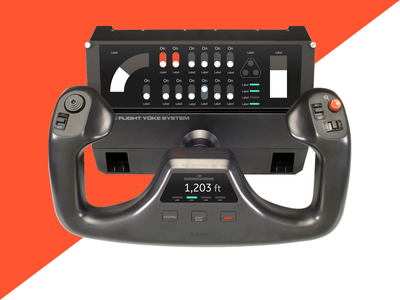 #DailyUI - 034 - C̶a̶r̶ Aircraft Interface toggle tap touchscreen controller interface steering throttle ux ui aviation dailyui