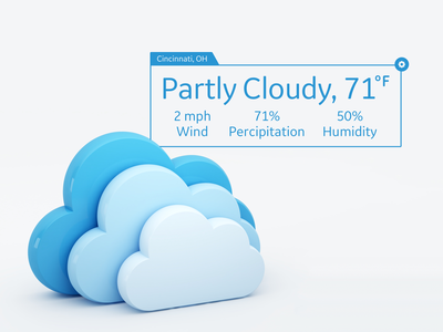 #DailyUI - 037 - Weather panel clouds widget weather ux ui dailyui