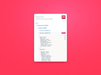 DailyUI - 050 - Job Listing output code job run validation analytic ux ui dailyui