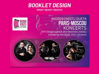 Music Function Booklet Design banner design print design flyer design booklets booklet design booklet