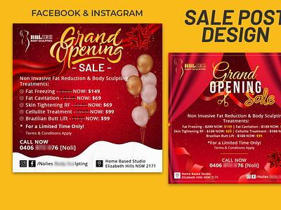 Social Media SalePost Design social media banner facebook ads instagram post sale post sale banner social media design