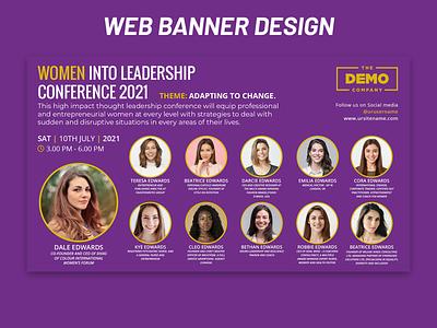 Web Banner Design conference banner web banner web banner design webdesign banner ad banner design