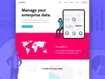 Data web concept