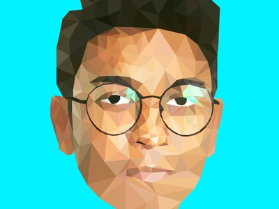 Low Poly Self Portrait freelancer fiverr illustration art illustration design digitalart designer graphics design self-portrait self portrait selfportrait lowpolygon lowpoly portrait graphics design vector digital lowpolyart portrait lowpoly illustration