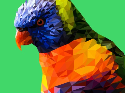 Low Poly Parrot Illustration freelance design digital art ebook desgn vector logo digitalart poster art illustration graphic designer freelancer fiverr design fiverrgigs fiverr portrait illustration portrait art portrait lowpolyart low poly lowpoly