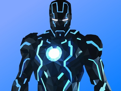 Low Poly Iron Man concept inspiration graphic designer graphicdesign graphic design portrait art mural portrait artwork artist marvel comics marvel studios iron man ironman freelance designer freelancer vector digital lowpolyart lowpoly