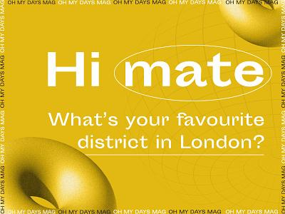 Hello Dribbble 🏀 brand design branding identity identity branding type yellow typography london logo