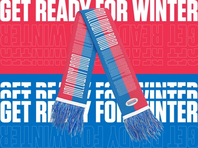Holloway Road scarf knit textile typography streetwear winter art direction scarf branding