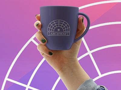 Archway mug logo art direction mug london identity branding brand branding