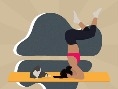 Yoga in vectors #6 illustration design illustrator vector flat illustration