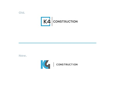 K4 Construction construction mark symbol icon logotype branding logo