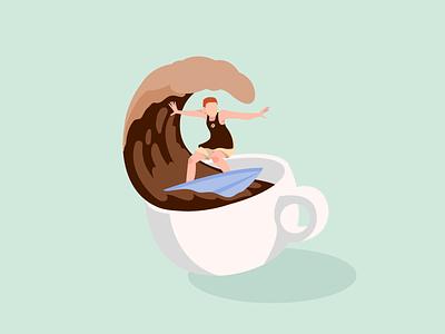On Energy Wave logo branding adobe illustrator coffee vector illustration art digital illustration digital art design illustration