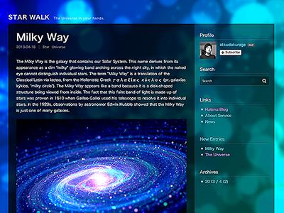 STAR WALK - Haten Blog Themes blog web