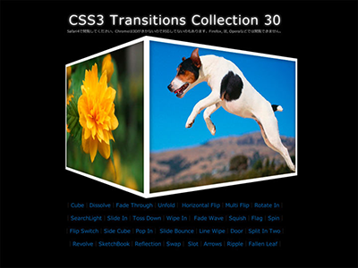 CSS3 Transitions Collection 30 web css