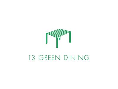 13 GREEN DINING logo
