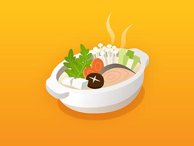 Nabe icon illustration