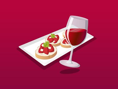 Wine icon illustration