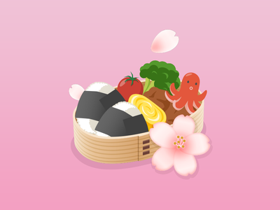 Obento icon illustration
