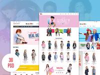 HappyKids - Fashion eCommerce PSD Template