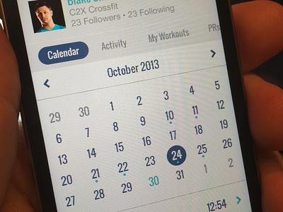 Benchmark Profile crossfit ios iphone calendar profile app ios7