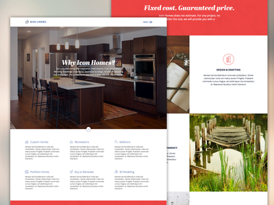 Icon Homes Redesign web ui web design home architecture modern clean icons build builder